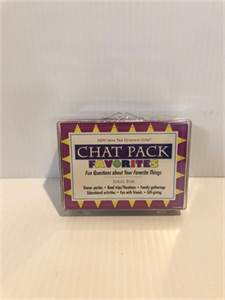 chat pack favorites: conversation starter fun for the whole family or friends to enjoy ! in like new
