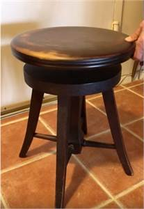 Height Adjustment Antique Piano Stool-Cherry-Hill-NJ