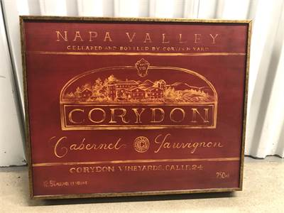 Napa Valley Corydon Art great for man cave, bar or den, pick up Cherry Hill New Jersey