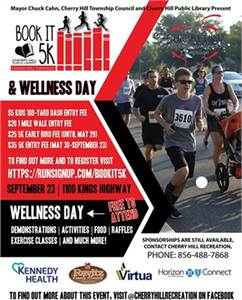 9/23: Book It 5K and Wellness Day: Cherry Hill Township