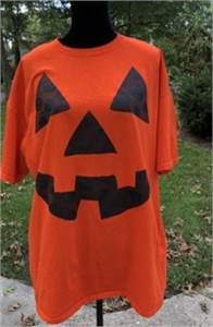 Pumpkin T Shirt Adult Size 2XL / Preowned / Orange T Shirt / Halloween Shirt shipping available