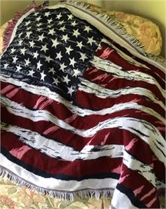 Preowned, American Flag Cotton Throw Cherry-Hill-NJ