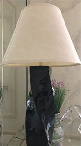 very nice contemporary 2 black lamps for sale. 2 for $45.00  Local pick up only Cherry-Hill-NJ