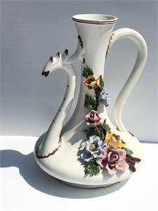 Exquisite Vessel Made in Italy:  Ardalt Italian Capodimonte Vessel with Free Shipping