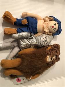 Wizard of Oz Vintage plush tin man, lion, scarecrow Cherry Hill, NJ local pickup or shipping availab