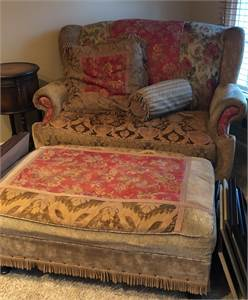 Chair and Half with Ottoman preowned very good condition . Cherry Hill NJ pick up
