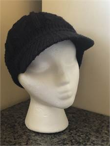 Black Ladies Hat with visor, warm and cozy, preowned $12.99 shipped