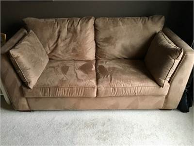 Luxe Camel-Colored Sofa Bed; Full Size Sleeper . Cherry Hill, NJ 08002