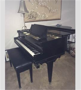 Piano.  Baby Grand piano with bench.  Cherry Hill 08034