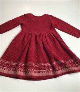 Baby Gap, Red Christmas Dress, Size 24 to 30 Months, all cotton, Cherry Hill, NJ