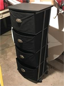 Really nice Storage unit! Drawer storage on wheels. 4 Drawer Rolling Storage Cart.