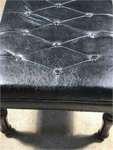 Tufted Leather or pleather bench preowned cherry-hill-nj