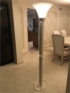 acrylic base floor lamp, color cream, with foot step switch, local pick up cherry-hill-nj