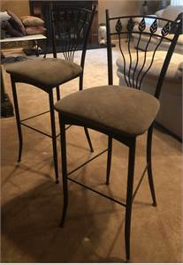 2 bar stools light olive green color, nice cherry hill nj pickup text 856-433-1087