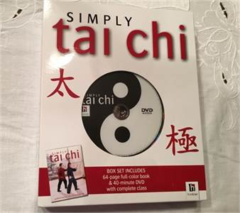 Simply Tai Chi DVD 64 page full color book and 40 minute DVD with complete class, $12.99 shipped
