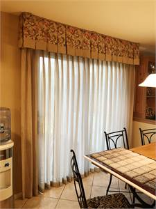 (B) Custom Made Window treatments for Slider Door Cherry Hill, NJ pickup