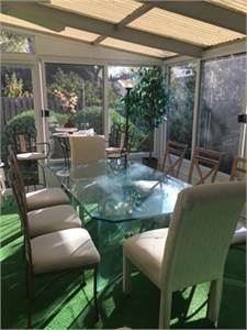 Sold! Beautiful Glass Table and 8 Dining Chairs