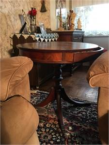 Antique  1930s   Drum Table / Round Table with a drawer
