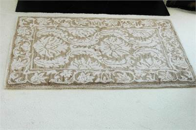 Sold! Dense Pile, Thick and Plush, Hand Made Wool Rug, Beige Area Rug, 4x2 area rug, Cherry Hill, NJ