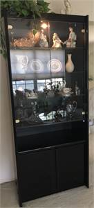 Contemporary Light Up, black, Tall Curio Cabinet Local Pickup in Cherry-Hill-NJ