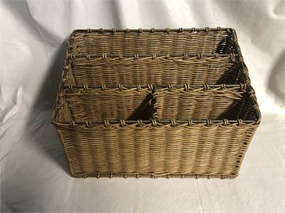 brown wicker Mail Desk Organizer Mail Sorter Cherry Hill, NJ local pickup or shipping available