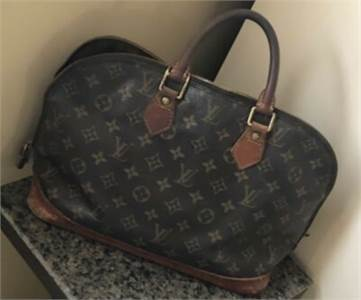 LOUIS VUITTON Alma Hand Bag Brown SD0965, preowned, Cherry Hill NJ pickup only