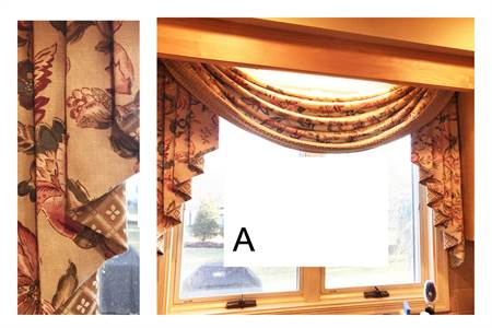 (A) Kitchen Drapery (shown over kit sink area)
