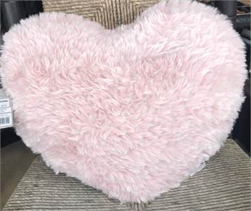 Heart Plush Throw Pillow in Pink by UGG, cherry hill nj