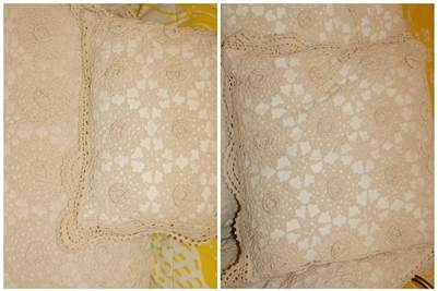 Shabby Chic Crochet Look Pillows, Cherry Hill, NJ