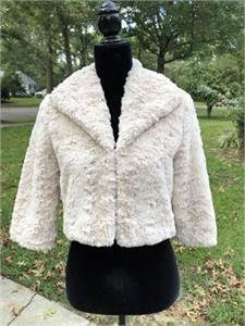 Dressy, Soft, Shrug Creme Color size XS Lined-cherry-hill-nj shipping available