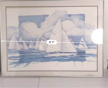 2 framed sailboat pictures. Cherry-hill-nj