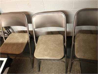 4 Vintage Samsonite metal folding chairs cherry-hill-nj