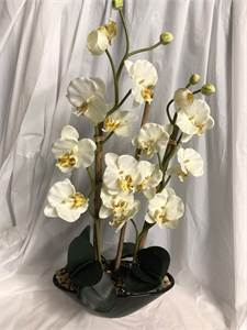 Orchid Floral Artificial Greens Arrangement 35 inches height approx width 17.5 inches Cherry-Hill-NJ