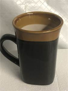 black brown coffee mug