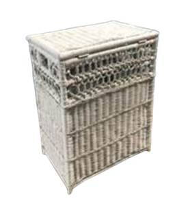 white wicker hamper in great condition local pickup cherry hill nj