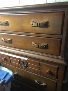 Vintage Dresser with Anchor Motif