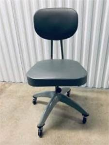 vintage rolling, retro, grey, office chair local pickup cherry hill nj