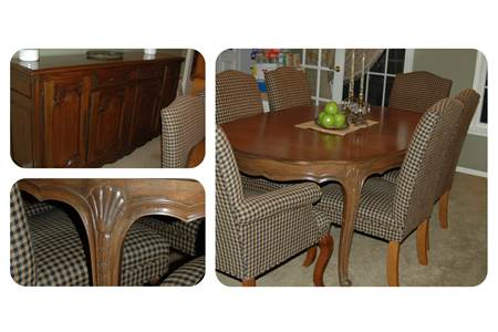 Gorgeous Diningroom Table and 8 Chairs with Fantastic Buffet, EXCELLENT