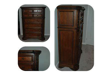 Very Nice Tall Dresser, Dark Wood