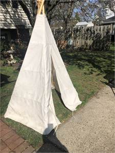 Tee Pee local pickup cherry hill nj, canvas wrap, wooden posts, awesome!