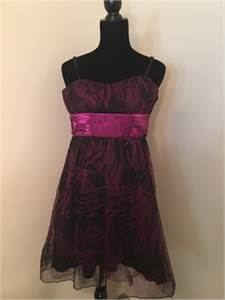 Special Occasion Dress with satin sash size 12/14 with Free Shipping
