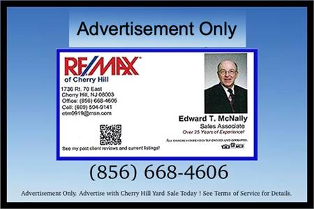 Over 25 Years of Experience as a Realtor in South Jersey, Ed McNally, Remax, Real Estate Agent