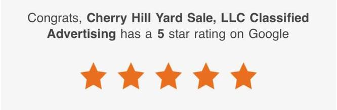 5 Star Reviews of Cherry Hill Yard Sale, LLC. of Cherry Hill, NJ